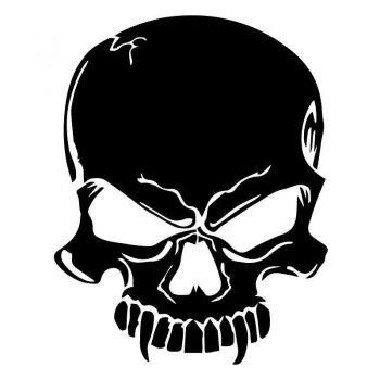 Skull Vampire Decal
