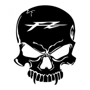 Sticker Skull Vampire Yamaha FZ