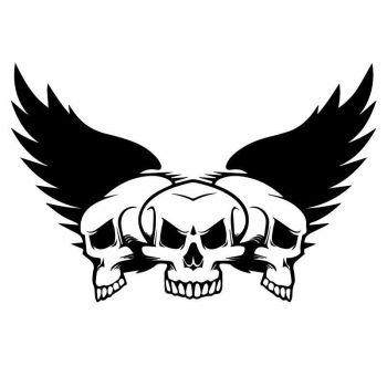 Skull Wings Decal