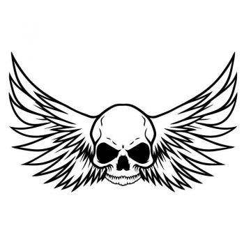 Skull With Wings Decal