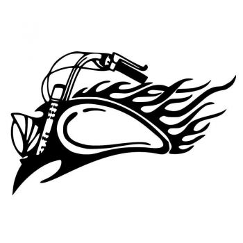 Harley Davidson Motorcycle Flames Decal [CLONE]