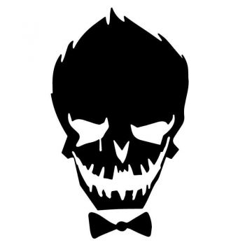 Skull With Smile Decal