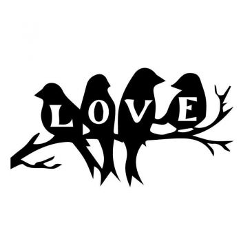 "Sticker Oiseaux ""LOVEBIRDS"""