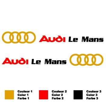 Audi Le Mans Logo Decals Set