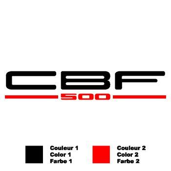 Sticker Honda CBF 500 Logo Bicolor