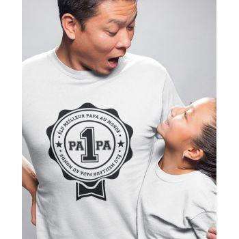 Tee-shirt Élu Meilleur Papa au Monde