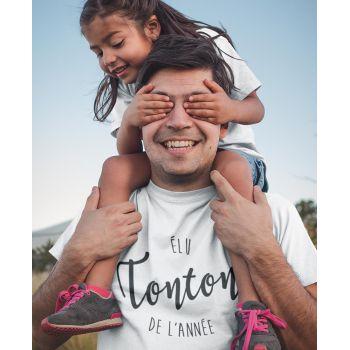 Tee-shirt Élu Tonton de l'Année