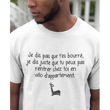 Tee-shirt Humour Rentrer en Vélo d'Appartement
