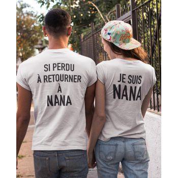 Tee-shirts pour Couples - Si perdu à retourner à Nana