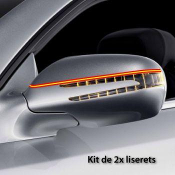 Spain car rear-view mirror stripes decals set