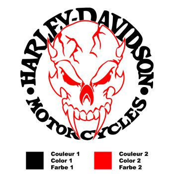 Harley-Davidson Bicolour Devil Skull Decal