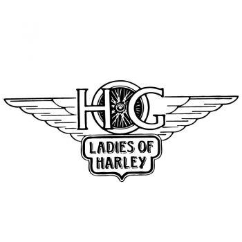 Sticker Harley Davidson HOG Ladies ★