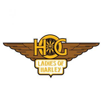 Sticker Harley Davidson HOG Ladies Of Harley ★