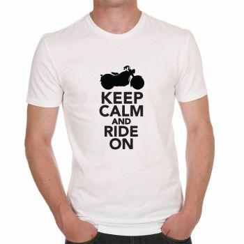"Tee shirt ""Keep Calm And Ride On"""