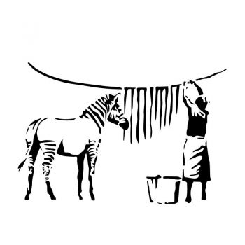 Sticker Banksy - Zebre