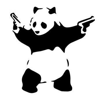 Sticker Banksy - Panda