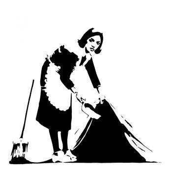 Sticker Banksy - Femme de Ménage