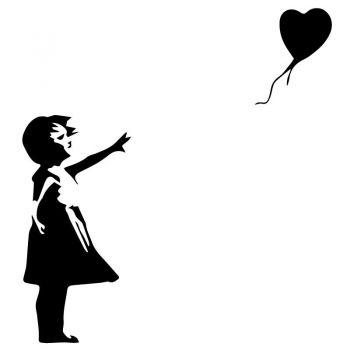 Sticker Banksy -  Fille et Ballon