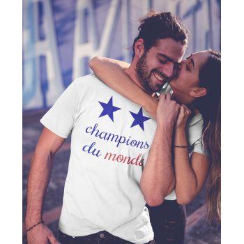 Tee shirt France Champions du Monde 2 Etoiles