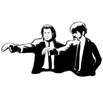Banksy - Pulp Fiction Decal