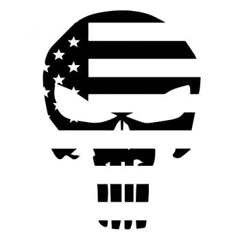 Sticker Punisher Drapeau USA