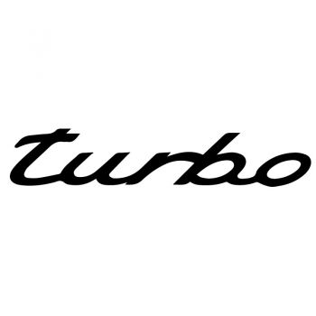 Sticker Porsche Turbo Decal