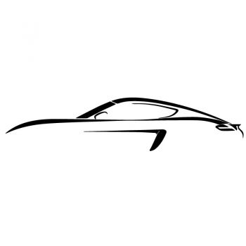 Porsche 718 Cayman Drawing Decal