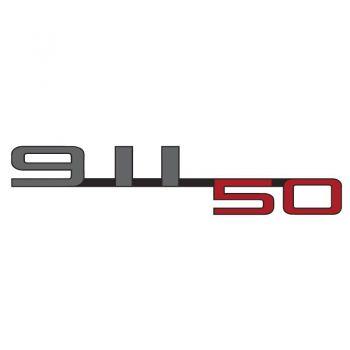 Porsche 50 Years of 911 Logo Color Decal