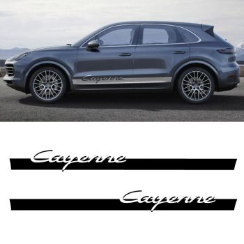 Car Side Stripes Decals Set Porsche Cayenne