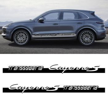 Car Side Stripes Decals Set Porsche Cayenne Transsyberia