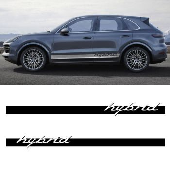 Car Side Stripes Decals Set Porsche Cayenne Hybrid