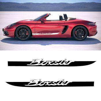 Car Side Stripes Decals Set Porsche Boxster