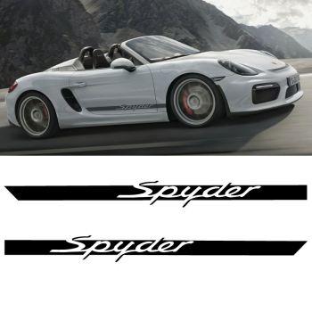 Car Side Stripes Decals Set Porsche Boxster Spyder