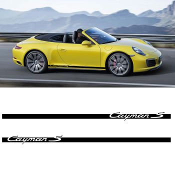 Car Side Stripes Decals Set Porsche Cayman S