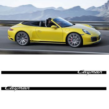 Car Side Stripes Decals Set Porsche Cayman