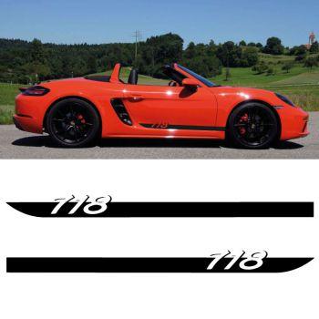 Kit Stickers Bandes Bas de Caisse Porsche Boxster 718