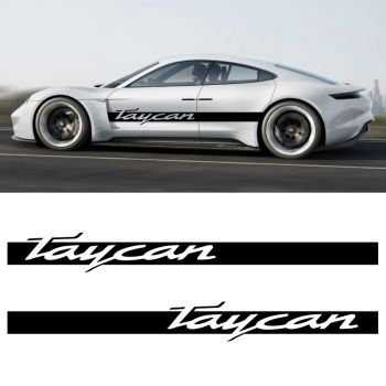 Car Side Stripes Decals Set Porsche Taycan
