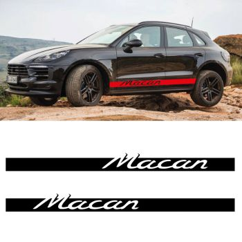 Car Side Stripes Decals Set Porsche Macan
