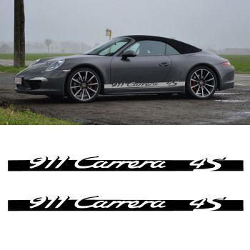 Car Side Stripes Decals Set Porsche 911 Carrera 4S