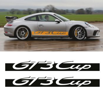 Car Side Stripes Decals Set Porsche 911 GT3 Cup