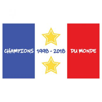 Sticker Flag France Champions Du Monde