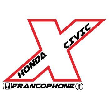 Sticker Honda Civic X Francophone