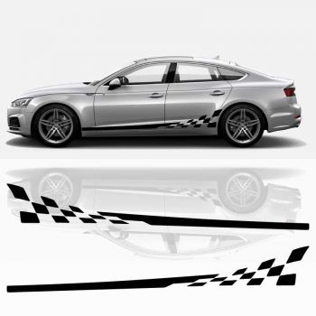 Audi A5 Sportback Side Stripes Decals