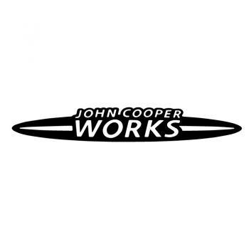 Aufkleber Mini John Cooper Works - Schwartz