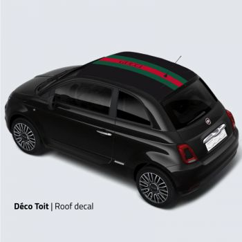 Fiat 500 Gucci Style car roof sticker