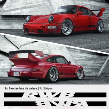 Porsche 911 - 964 RAUH-Welt RWB stripes decals set