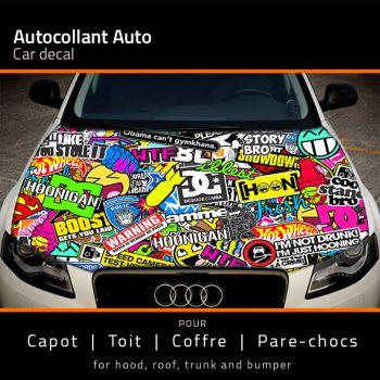 Sticker Capot Auto JDM