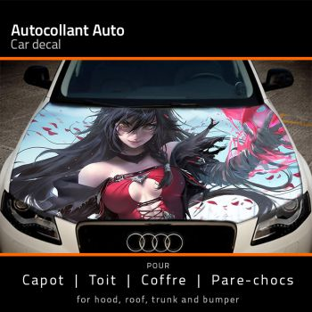 Anime Manga Sexy Woman car hood sticker