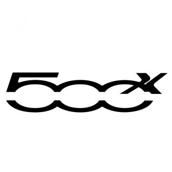Fiat 500X Logo Decal