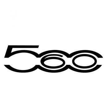 Fiat 500 60 Years Logo Decal